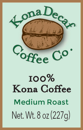 One Half Pound Decaffeinated Kona Coffee - Medium Roast